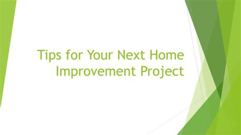 Canvassing Tips Home Improvement Ppt Tips For Your Next Home Improvement Project