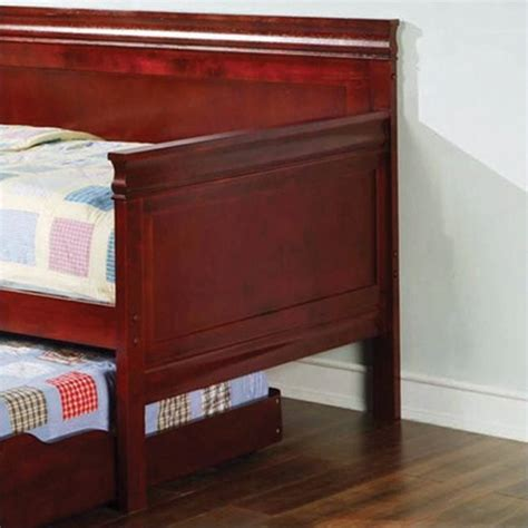 Wood Daybed With Trundle Coaster Wood Daybed With Trundle In Cherry Finish 300036ch