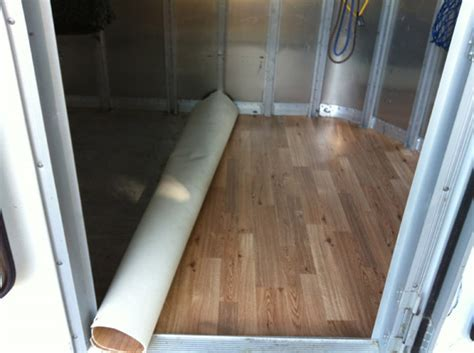 Trails (and Trials): trailer modification: vinyl floor