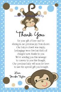 lynnetteart monkey baby shower thank you cards printable