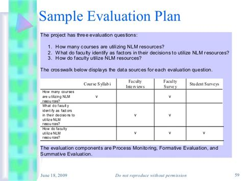 evaluation plan sle eval plan 7 evaluation plan