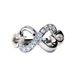 Promise Rings Infinity Infinity Promise Ring With 2 Joined Hearts Beautiful