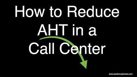 how to downsize how to reduce aht in a call center youtube