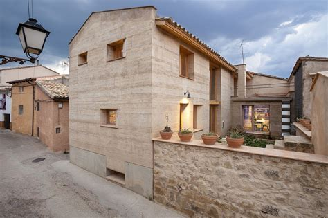 architectural revival sustainable rammed earth house in spain