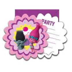 buy trolls invitation cards supplies