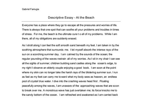 Descriptive Essays On The by Exle Descriptive Essay Best Friend Essay Writing Descriptive Essay My Best Friend