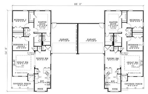 Multi Unit Home Plans by Traditional Multi Unit House Plans Home Design Wilshire