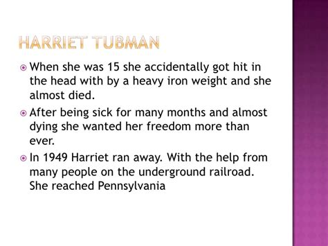 harriet tubman biography powerpoint 2nd grade biography powerpoint project