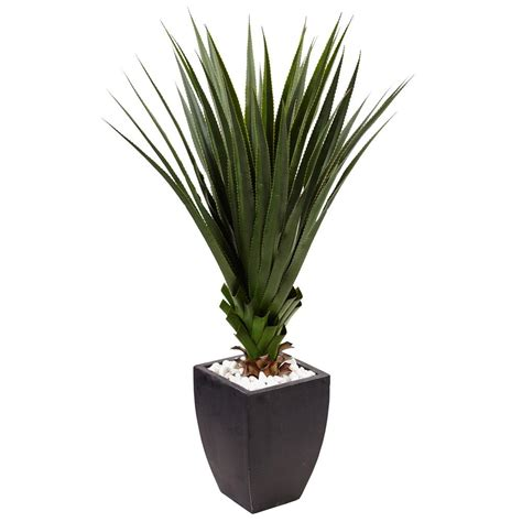 indoor decorative plants nearly natural indoor outdoor spiked agave artificial