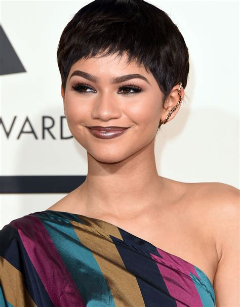 shortest hairstyle ever zendaya s pixie cut find out the truth about her grammys