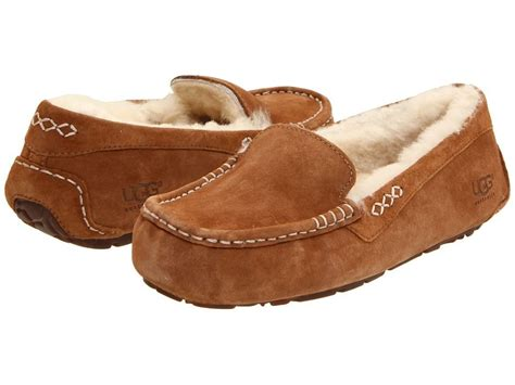 ugg slippers ansley s shoes ugg ansley moccasin slippers 3312 chestnut 5