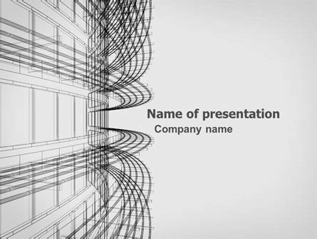 3d architecture projecting presentation template for