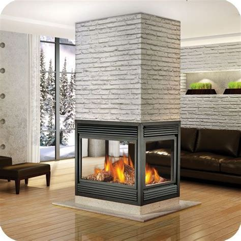 Four Sided Fireplace indoor four sided gas places four sided gas