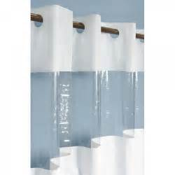 hook free vinyl shower curtain with clear panel bathroom