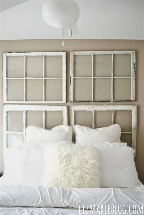 window frame headboard diy antique window headboard