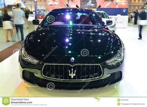 maserati thailand nonthaburi december 1 maserati ghibli car display at