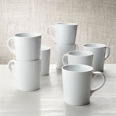porcelain coffee mugs set of 8 white porcelain coffee mugs shopswell