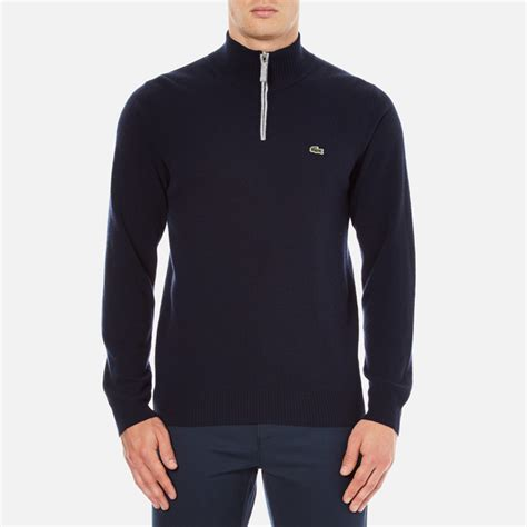 Hoodie Zipper Sweater Lacoste 1 lacoste s half zip funnel neck sweatshirt navy blue silver chine free uk delivery 163 50