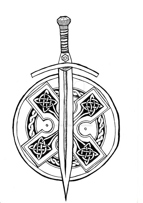 sword and shield tattoo sword celtic sword pencil and in color sword