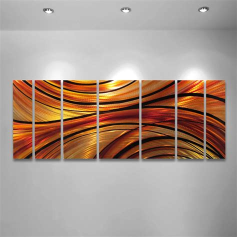 wall decor sculpture quot mirage quot 68 quot x24 quot large modern abstract metal wall