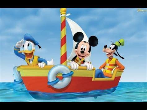 row row your boat disney mickey mouse clubhouse row row row your boat nursery rhyme