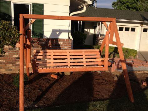 freestanding swing custom made freestanding cedar swing by last boss