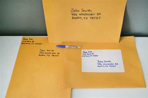 How to Address Large Envelopes   Synonym