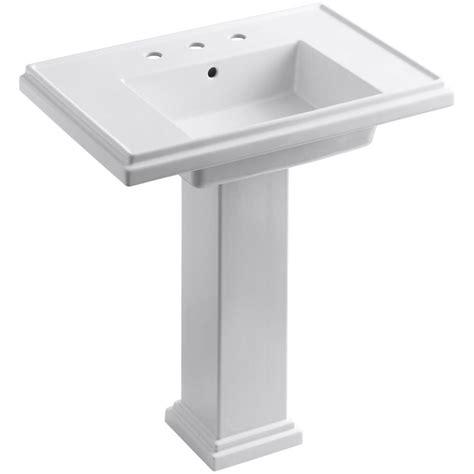 Kohler Pedastal Sink by Kohler Tresham Ceramic Pedestal Combo Bathroom Sink With 8