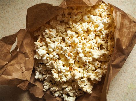 Popcorn In A Paper Bag - how to make microwave popcorn in a brown paper bag