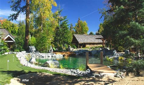 natural swimming pond  dock summer favethingcom