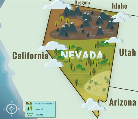 map of nevada nevada nv state information