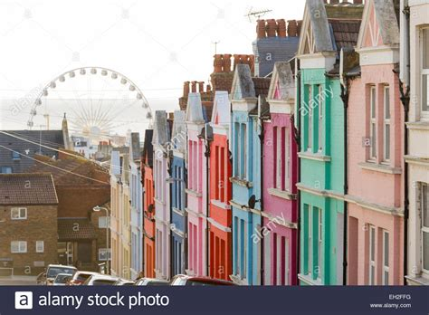buy house in brighton row of colourful painted terraced houses in brighton east sussex stock photo royalty