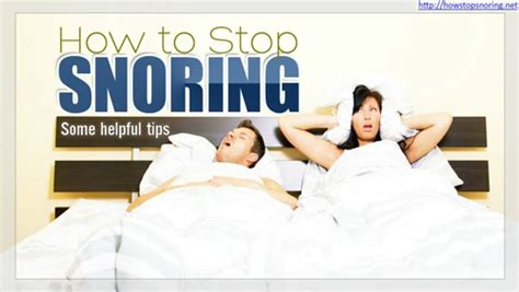 7 Tips To Stop Snoring by How Stop Snoring