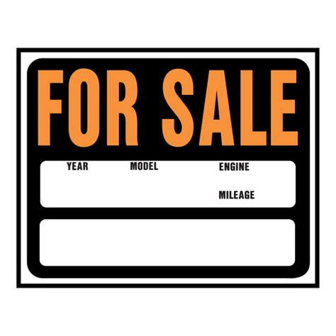 Printable Car For Sale Sign Clipart Best For Sale Template