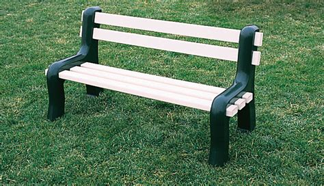 plastic park bench ends plastic bench treenovation