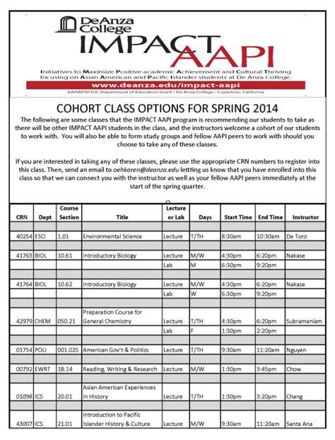 De Anza College Calendar De Anza College Impact Aapi Calendar