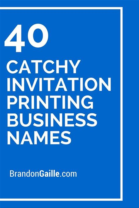 Invitation Design Company Names | business names printing and invitations on pinterest