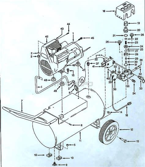 well parts diagram schematic for air compressor schematic for ac unit