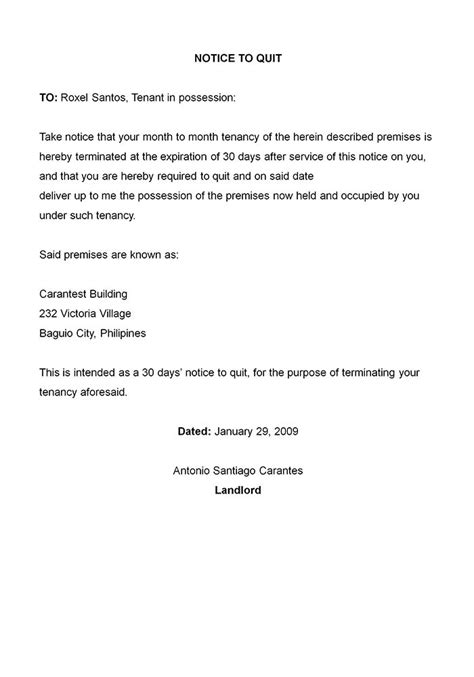 printable sample letter  termination form laywers