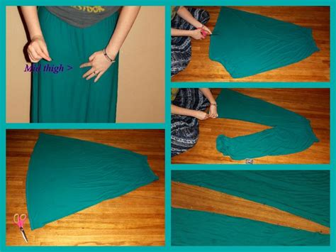 plazo pant cutting pictorial how to turn an old maxi dress into gouchos