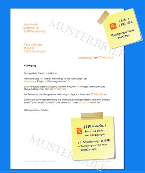 Muster Kã Ndigung Versicherung K 252 Ndigung Mietvertrag Musterbrief Invitation Templated