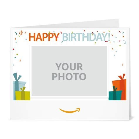 Print Out Amazon Gift Card - upload your photo birthday printable amazon co uk gift voucher amazon co uk gift