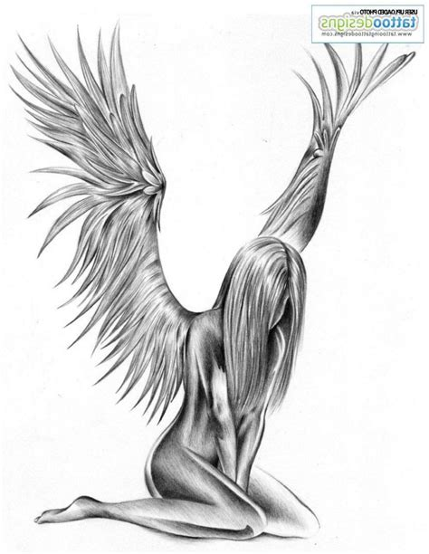 tattoo sketch angel fallen angel tattoo sketch for women amazing tattoo