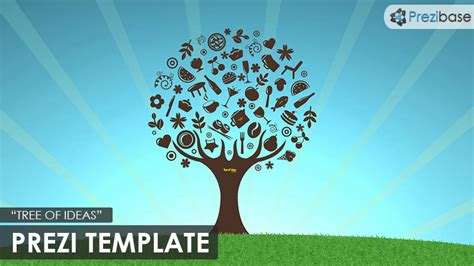 Tree Of Ideas Prezi Template Prezibase Prezi Template Ideas