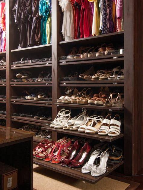 Shoe Closet Organization by Master Bedroom Closet Shoe Organization Remodel Design