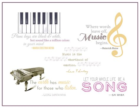 printable quotes about music music quotes and word art for your scrapbook layouts