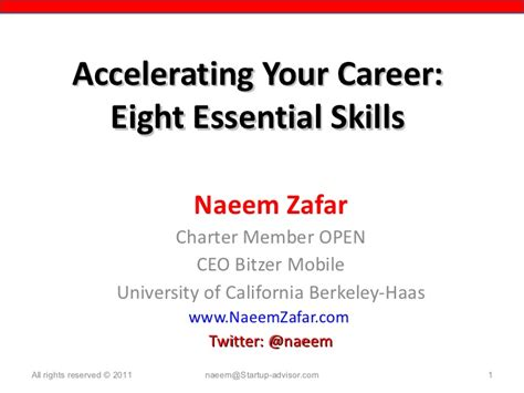 8 Essential Open Relationship To by 8 Essential Skills To Accelerate Your Career 2011 Zafar