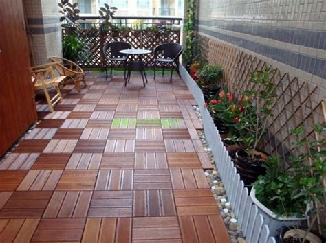 Terrace and balcony wood tiles ideas and other floor