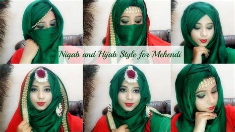niqab tutorial with scarf bridal mehendi hijab niqab tutorial easy to wear makeup