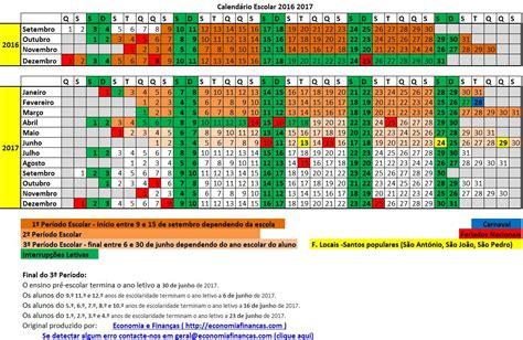 Calendario 2016 D Calend 225 Escolar 2016 2017 Em Excel Calend 225 Rios E